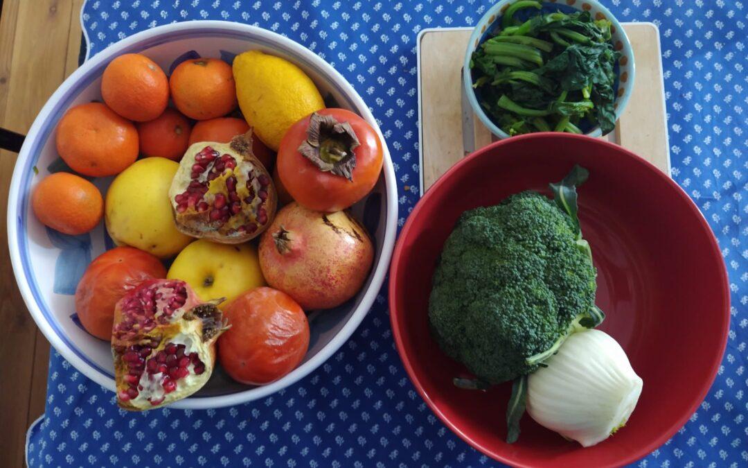 FRUIT AND VEGETABLES IN SEASON IN DECEMBER